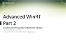 Recording of Part 2 of the Webinar 'Advanced Windows 8 Metro' by Gill Cleeren